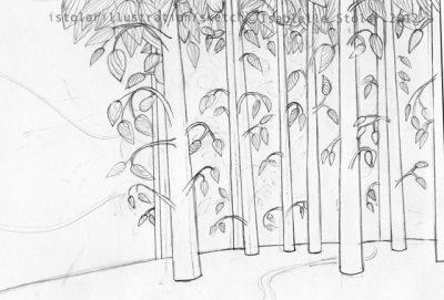 arbres sketch