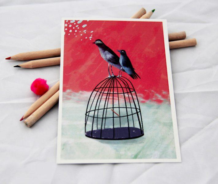 bird cage card photo 2