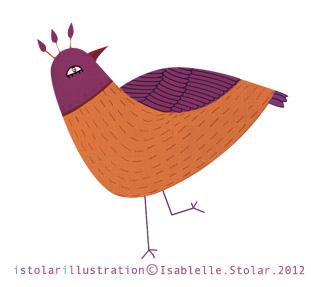 bird card orange