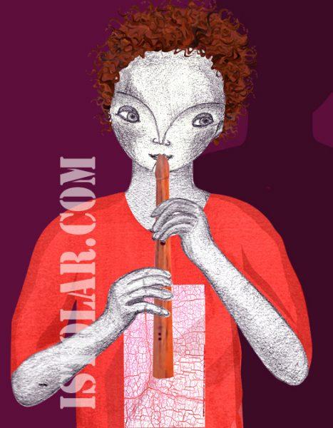 Luno  sketch flute