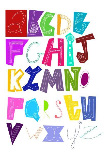 calligraphie doodle abc
