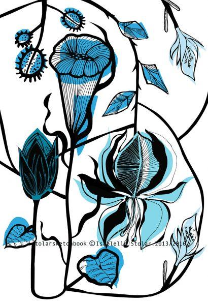 fleur tropicmerge bleu