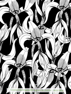iris faux papier peint