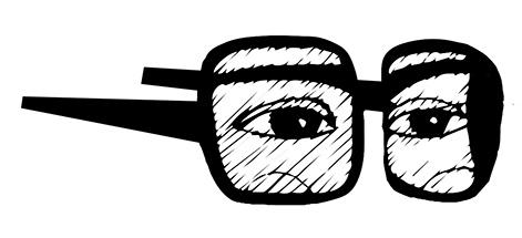 detail femme lunette jaune 2
