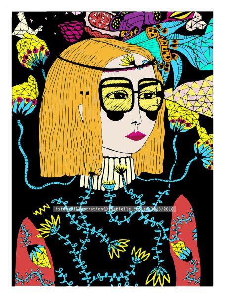 femme lunette  botanic 75