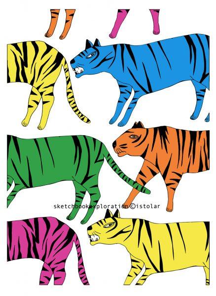 tigre faux pattern 3