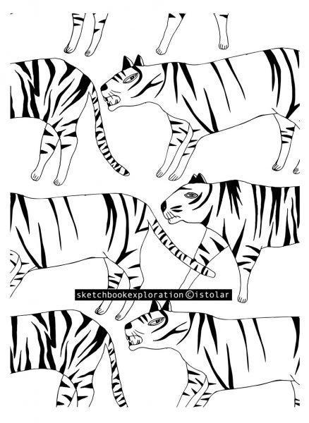 tigre faux pattern