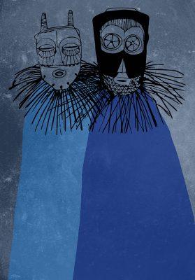 des masques textures nuit