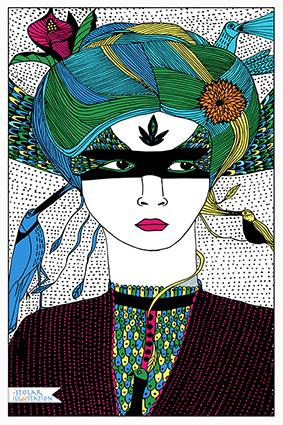 femme chignon oiseau blog 74