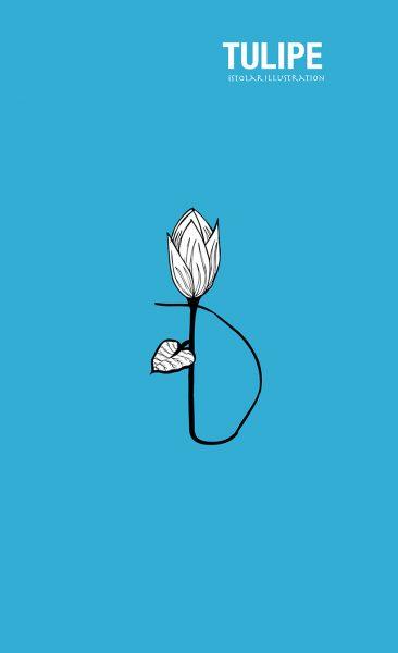 tulipe seule poster 75